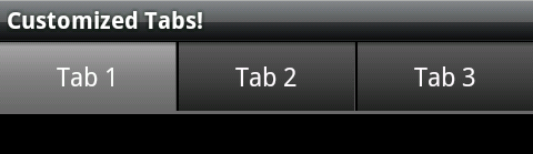 Custom Android Tabs | Josh Thought